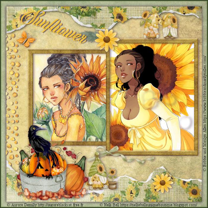 """Herausforderung """"Scrapkit Sunflower"""" Oktober"""